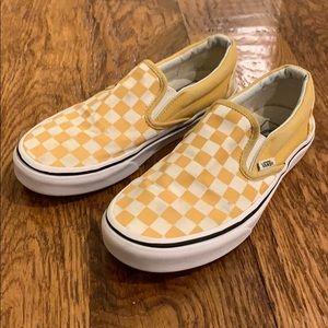 yellow checkered vans!!